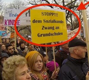 Stopp dem Sozialkunde-Zwang an Grundschulen!